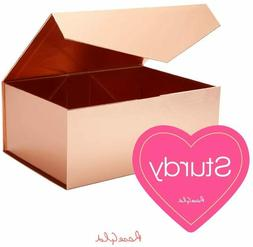1/3/5 Rose Gold Magnetic Gift Boxes Bridesmaid Proposal Wedd