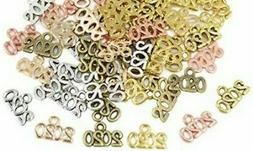10 Number Charms 2020Pendants Antique Silver Rose Gold Bronz
