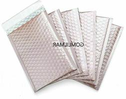 25 #2 Matte Metallic Rose Gold Poly Bubble Mailers 8.5x12