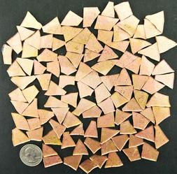 100 Metallic ROSE GOLD with glitter Mosaic Art Glass Tiles b