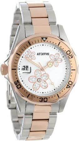Invicta Women's 12507 Pro Diver Silver Dial Crystal Accented