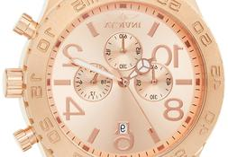 Invicta Men's 1271 Specialty Chronograph Rose Dial 18k Rose