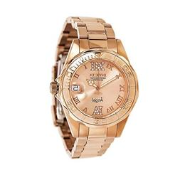 Invicta Women's 14398 Angel Analog Swiss-Quartz Rose Gold Wa