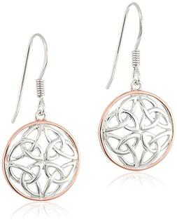 14k Rose Gold Plated Sterling Silver Two Tone Celtic Knot Ro