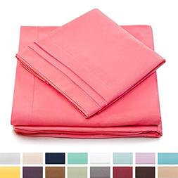 Cosy House Collection Twin Size Bed Sheets - Brink Pink Luxu