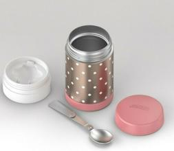 Thermos 16oz Funtainer Food Jar - Rose Gold Dots