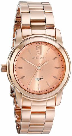 Invicta 17421 Women's Angel Quartz Rose Gold Dial Rose Gold