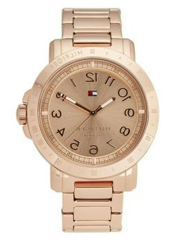 Tommy Hilfiger Women's 1781396 Analog Display Quartz Rose Go