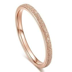 18K Rose Gold Ultra-fine Tail Ring Titanium Steel Women's We
