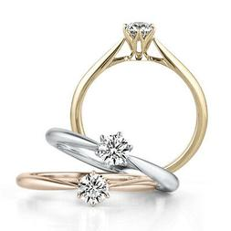 18K White/Gold/Rose Gold 925 Silver Women's Gift Engagement