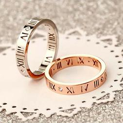 18K White Gold /Rose Gold Filled Men Women's Wedding Engagem