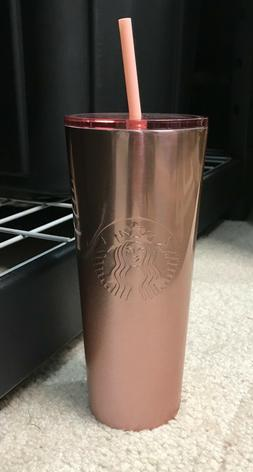 2019 Starbucks Rose Gold Glitter Stainless Steel Cold Cup Tu