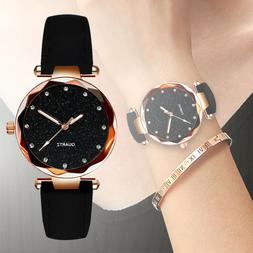 2020 Ladies fashion Korean Rhinestone Rose Gold Quartz Watch
