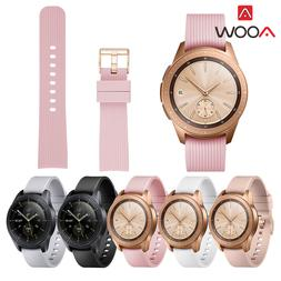 20mm Striped Silicone Watchband for <font><b>Samsung</b></fo