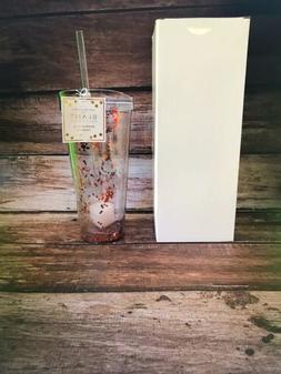 22 Oz ROSE GOLD CONFETTI DOUBLE WALLED TUMBLER