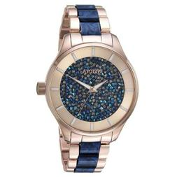 Invicta 24662 Women's Blue Crystal Rose Gold Dial Watch