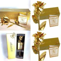 24K Gold Dipped Real Rose w/Gold Gift Box by The Original Fo
