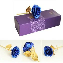 24K Gold Plated Rose Flower Valentine's Day Birthday Handmad