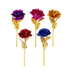 24K Gold Plated Rose Flower Valentine's Day Gift Birthday Ro