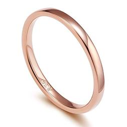EAMTI 2mm 925 Sterling Silver Ring Yellow Gold Plated High P