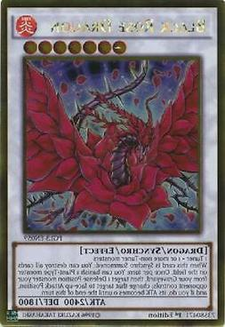 2x Black Rose Dragon - PGL3-EN059 - Gold Rare 1st Edition NM
