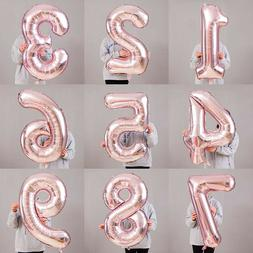 "32/40"" Rose Gold Number Birthday Balloons Helium Foil Weddin"