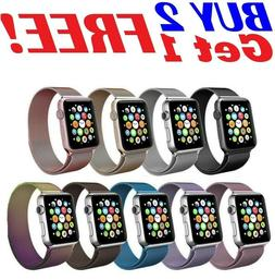 38 42 40 44mm For Apple Watch 5/4/3/2/1 Magnetic Milanese Lo