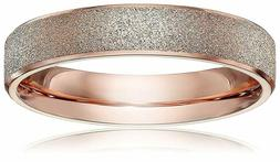 LOVE Beauties 4mm Women's Titanium Rose Gold Wedding Band Ri