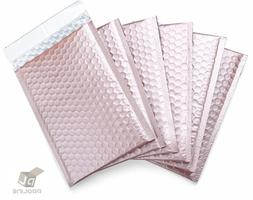 50 #0 Matte Metallic Rose Gold Poly Bubble Mailers Envelopes