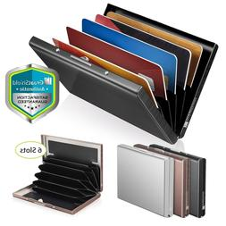6 Slot Stainless Steel Wallet RFID Blocking Identity Protect