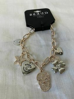 """GUESS 7.5"""" WOMEN'S CHARM BRACELET ROSE GOLD COLOR BRAND NEW"""