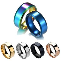 8mm stainless steel mens womens wedding engagement
