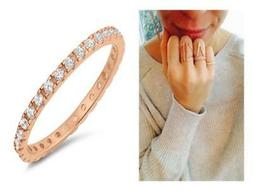 925 silver rose gold 2 mm cz