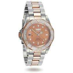 Invicta Men's Watch Pro Diver Rose Gold Dial Automatic Two T