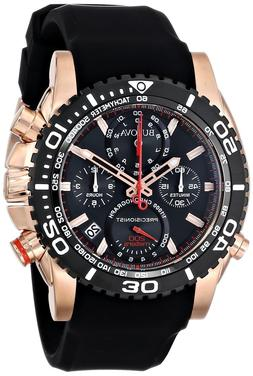 Bulova Men's 98B211 Analog Display Japanese Quartz Black Wat