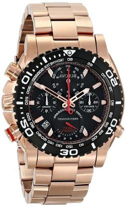 Bulova Men's 98B213 Analog Display Japanese Quartz Rose Gold