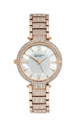 Anne Klein New York Swarovski Crystal Rose Gold Tone Women's
