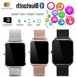Bluetooth Smart Watch GSM SIM Phone Mate Z60 Stainless Steel