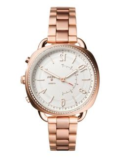 Fossil FTW1208 Q Accomplice Rose Gold Tone Hybrid Women's Sm