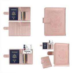 GDTK Leather Passport Holder Cover Case RFID Blocking Travel