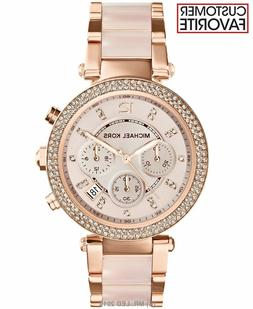 f9ceeaf4415d Editorial Pick New Michael Kors Parker Rose Gold Blush MK5896 Watch for Wom