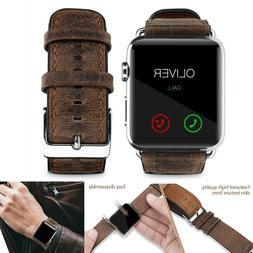 PASBUY 53B Genuine Leather Strap Band for Apple Watch Series