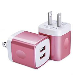 Wall Charger, FiveBox 2Pack Dual Port USB Wall Charger Brick