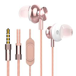 Wired in Ear Earbuds, Mijiaer M30 Stereo Bass Headphones wit