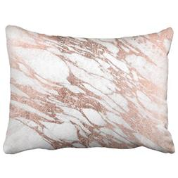 Musesh accent chic elegant white and rose gold marble patter