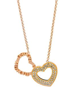 admiration 18k rose gold plated crystal pendant