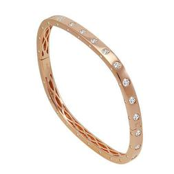 Amanda Rose Cubic Zirconia Rose Gold Flashed Sterling Silver