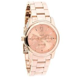 Invicta Womens Angel Rose Dial 18k Gold Ion-Plated Watch