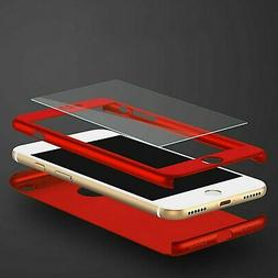 For Apple iPhone 8 6 6S 7 / Plus +Tempered Glass Ultra Thin