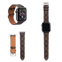 Apple Watch Band LV Genuine Leather Strap For Series 5 4 3 2
